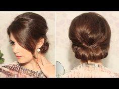 Cómo hacer un elegante peinado paso a paso en poco tiempo Easy Updo - YouTube