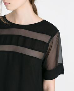 Image 5 of BLOUSE WITH TRANSPARENT DETAILS from Zara