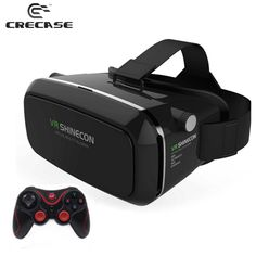 Find More 3D Glasses/ Virtual Reality Glasses Information about VR SHINECON Virtual Reality Headset 3D IMAX Video Glasses Radiation Protection for 3.5   6 inch Phone + T3+ Bluetooth Controller,High Quality glasses life,China glasses recorder Suppliers, Cheap glasses screen from GUANGZHOU CRECASE FLAGSHIP STORE on Aliexpress.com