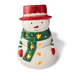 Snowman Luminary- The light shines bright and beautiful through this festive luminary. Use with standard tea light candle (not included). Regularly $9.99, buy Avon Home online at http://eseagren.avonrepesentative.com