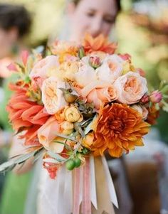 peachy-orange bouquet