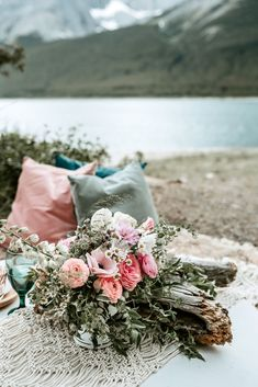 Visit our blog to see more from this beautiful lakeshore wedding inspiration! Wedding Trends, Wedding Styles, Real Weddings, Country Weddings, Mountain Elopement, Elopement Inspiration, Wedding Vendors, Floral Wedding, Florals