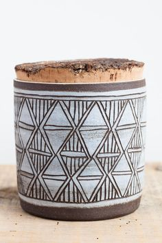 april napier - triangles canister w/ cork