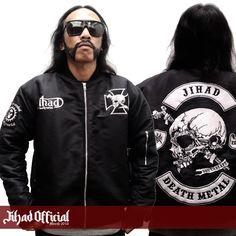 Official : Jihad Death Metal (Merch 2016) Bomber Jacket : The Brandal Death Metal (Full Patch Bordir) Size : S - M - L - XL - XXL (Import) Price : Rp. 399.000,- (Exclude Shipping) Order : 085222090666 / 085723321707 Pin : 2A1DF4D1 / 54C5312B Instagram : https://www.instagram.com/jihadeathmetal/