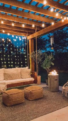 Small Backyard Design, Backyard Patio Designs, Small Backyard Landscaping, Modern Backyard, Backyard Makeover, Back Patio, Back Yard Oasis, Patio Set Up, Cozy Patio