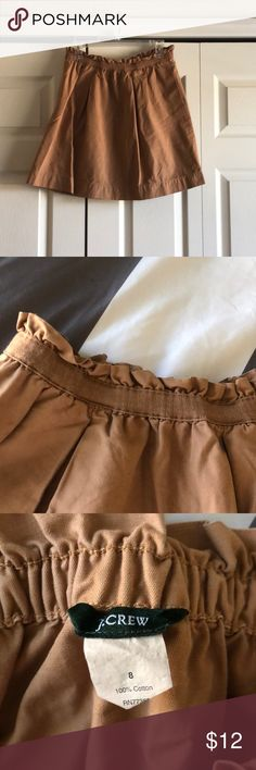 J. Crew skirt 100% cotton. Brown skirt J. Crew Skirts