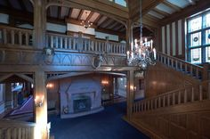 Main Hall of Hatley Castle.