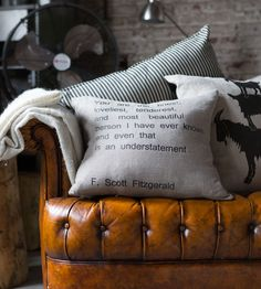 """You are the finest, loveliest, tenderest and most beautiful person I have ever known and even that is an understatement"" - F. Scott Fitzgerald Quote Pillow When I have a family I will need this in my home :) Scott Fitzgerald Quotes, Deco Cool, Pillow Quotes, Beautiful Person, Simply Beautiful, Humble Abode, My Dream Home, Just In Case, At Least"