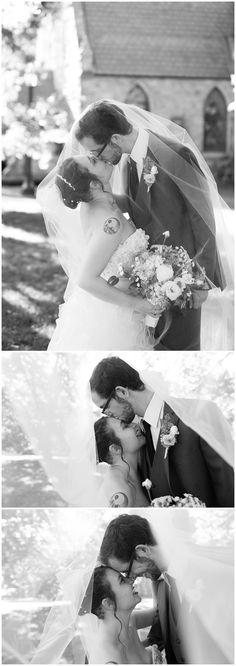 A little veil magic <3 UVA Chapel - Charlottesville Wedding - Downtown Charlottesville Wedding - Amanda C Blake Photography -  Brides with Tattoos