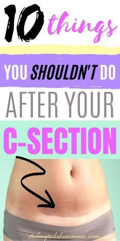 The Do's and Don'ts After a C-section - italianpolishmomma.com