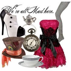 My next halloween costume for sure:) Mad Hatter Costumes, Mad Hatter Party, Mad Hatter Tea, Mad Hatters, Mad Hatter Outfit, Disney Character Outfits, Disney Themed Outfits, Disney Bound Outfits, Alice In Wonderland Outfit