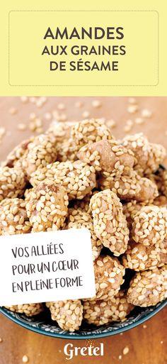 Amandes aux graines de sésame pour un apéritif sain et croustillant