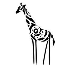 Tribal giraffe hi-res flash tattoo Sgraffito, Small Giraffe Tattoo, Giraffe Illustration, Outline, Tattoo Stencils, Ex Libris, Animal Tattoos, Tribal Art, Beautiful Tattoos