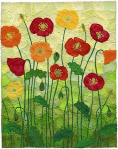 unsigned stitched flowers--unknown artist (FLOWER POWER)