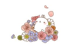 Molang in flowers..