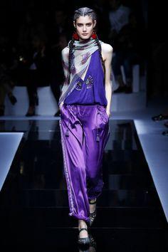 scarf Emporio Armani | Ready-to-Wear Spring 2017 | Look 50