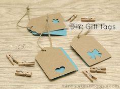 Etiquetas fáciles para regalos- Diy: Gift Tags