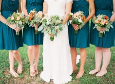 Bridesmaid Dresses, delightfully beautiful dress fashion number 5313830158 - From elegance to exquisite dress suggestions. wish additional super incredible advice? Please stopover the pin link 5313830158 this instant. Teal Wedding Flowers, Orange Wedding Colors, Aqua Wedding, Copper Wedding, Peacock Wedding, Rustic Wedding, Dream Wedding, Nautical Wedding, Fall Wedding