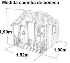casinha de madeira infantil projeto - Pesquisa Google