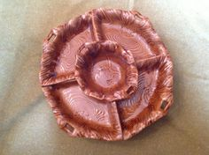 vintage lazy Susan chip and dip set with bowl and 4 by BonBibelots, $24.00