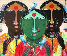 Gopal Subhedar Painting - SuchitrraArts.com Madhubani Art, Madhubani Painting, Indian Art Paintings, Acrylic Paintings, Painting Abstract, Scandinavian Folk Art, Indian Folk Art, Sad Art, Mural Art