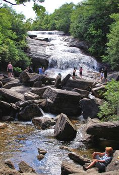 Lower (or Second) Falls at Graveyard Fields on the Blue Ridge Parkway near Asheville, NC