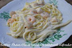 'Better Than Olive Garden' Seafood Alfredo – Mrs Happy Homemaker