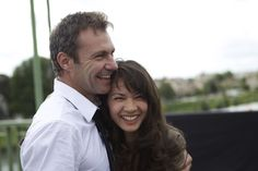 Chris Vance and his wife Dailly Moon  http://www.chrisvance.org/wp-content/uploads/2014/02/Transporter-2.jpg