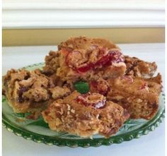 Butter Tart Squares and Cherry Squares - Christmas Sweets - OMG these look fabulous and easy, too!