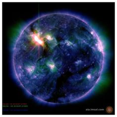 Picture of the Sun. Major Coronal Mass Ejection from Sunspot AR1429 on March 7, 2012.