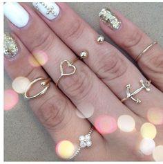 Rings. Nails