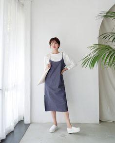 #Dahong(MT) style2017  #lookbook #Jikyung Long Skirt Fashion, Frock Fashion, Modest Fashion, Girl Fashion, Fashion Dresses, Korean Fashion Trends, Asian Fashion, Trendy Fashion, Womens Fashion