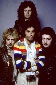 Queen's Freddie Mercury, Roger Taylor, Brian May and John Deacon