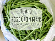 A step by step photo tutorial on how to preserve green beans by freezing them. It's super easy, plus they taste SO much better!