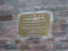 The Wall of Fame at the Cavern Club, Liverpool, Merseyside, UK. Wikimedia Commons photo by Lipinski, shared under Creative Commons license, details @ http://creativecommons.org/licenses/by-sa/3.0/deed.en .