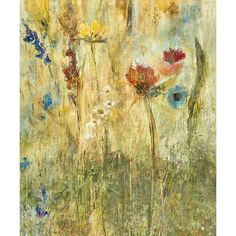 Daisy Day Wall Art (930 BRL) ❤ liked on Polyvore
