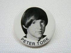 Vintage 1960s The Monkees / Peter Tork - Fan Pin / Button / Badge (Date Stamped 1966) by beatbopboom on Etsy