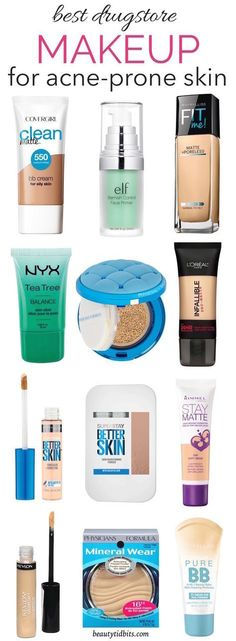 From foundations and BB creams to concealers, this is the ultimate guide to the best drugstore makeup that will be gentle to your oily acne-prone skin and wallet! Eyeshadow Looks Tattoo Mädchen Gesicht Augen Make-up Ideen – – Idée Maquillage 2018 / 2019 … Best Drugstore Makeup, Best Makeup Products, Skin Products, Beauty Products, Best Bb Cream Drugstore, Best Drugstore Foundation, Good Acne Products, Oily Skin Moisturizer, Drugstore Makeup