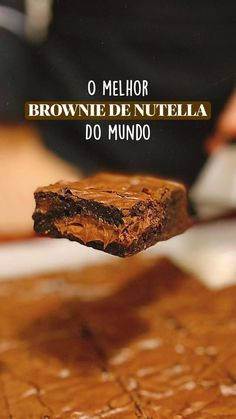 Nutella, Peanut Butter Brownies, Fudgy Brownies, Fat Foods, Hot Chocolate Recipes, Everyday Food, Diy Food, Food Photo, Cooking Time
