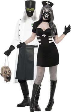 Evil Doctor & Horror Nurse Couple Costumes   Jokers Masquerade