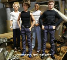 Fashion Doll Stylist: True Blue. Make blue jeans for your male fashion doll!
