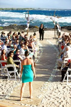 My sister speaks Hawaiian and wrote a mele to oli at the wedding ... Perfect way to start the ceremony