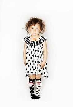 A gorgeous A-line dress in polka dot viscose fabric with a striped collar that has a pretty pink bow at the neck. Viscose Fabric, Black Dots, Best Brand, Pretty Dresses, Cute Kids, Dapper, Pretty In Pink, Bangs, Kids Outfits