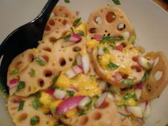 Lotus Root and Mango Salad