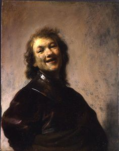 Rembrandt at age 22.  This self-portrait—which is less than 9 inches high and painted on copper—was only recently rediscovered.