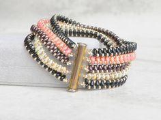 Multi Strand Bracelet Cuff Beaded Bracelet Boho Bracelet