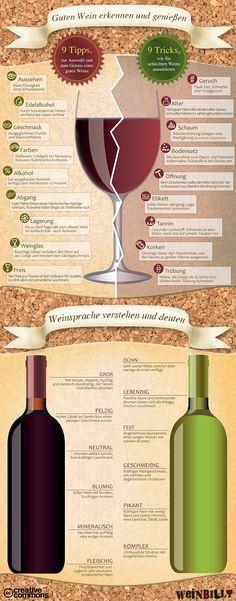Infografik: Guten Wein erkennen und genießen