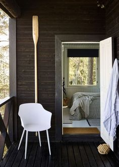 An Idyllic Finnish Summer Cabin on the Water's Edge Summer Cabins, Timber Cabin, Cabins And Cottages, Cozy Cabin, Scandinavian Home, Home And Family, Contemporary, Interior Design, House Styles