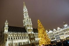 [Holiday Day 2 - Brussels] I love the Christmas Tree at the central square of Brussels the Grote Markt or Grand Place which also is a UNESCO World Heritage Site.   __________________________ Do you know that the Grand Place was destroyed by terrible bombardment by the troops of Louis XIV in 1695 but subsequently rebuilt over the next 4 years? __________________________ #AllisonTravels #Brussels #GrandPlace #visitbrussels #ChristmasTree