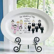Personalized Wedding Party Platter with Wedding Party - Great Wedding Gift